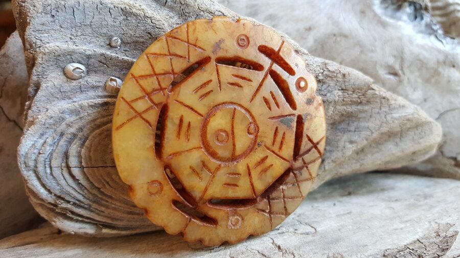 Serpentīna kulons Iņ - Jaņ, 5 cm. Zodiaks Skorpions Jaunava Dvīņi Mežāzis
