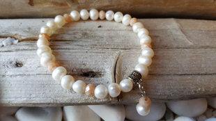Dabīgo Pērļu rokassprādze 18 cm. Zodiaks Vēzis Zivis