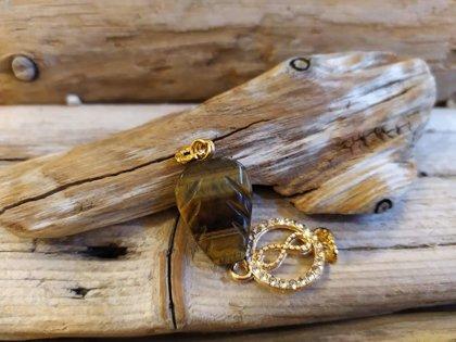 Tīģeracs kulons ar bezgalības zīmi Kulona izmērs ir 2 x 2.4 cm zodiaks - Jaunavas talismans